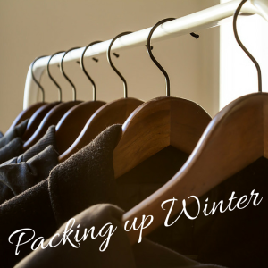 packing winter clothing